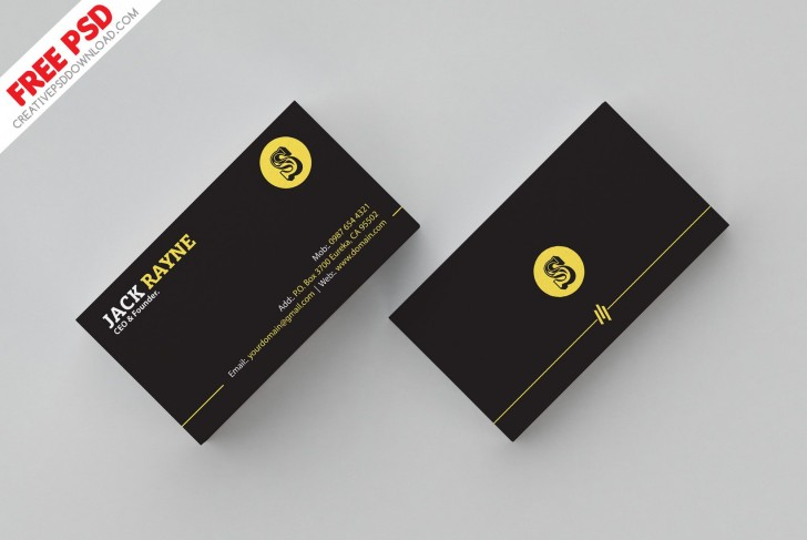 007 Shocking Simple Busines Card Template Psd Highest Quality  Design In Photoshop Minimalist Free728