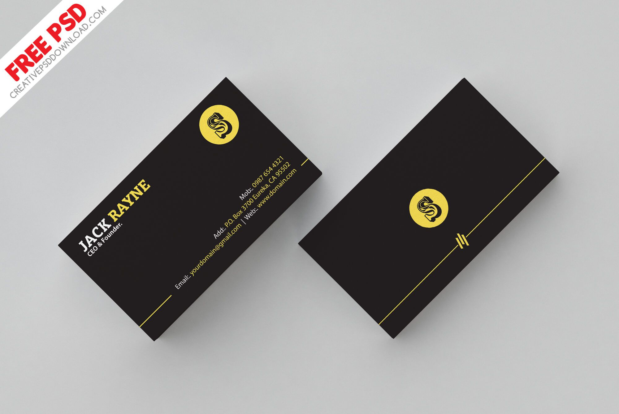 007 Shocking Simple Busines Card Template Psd Highest Quality  Design In Photoshop Minimalist FreeFull