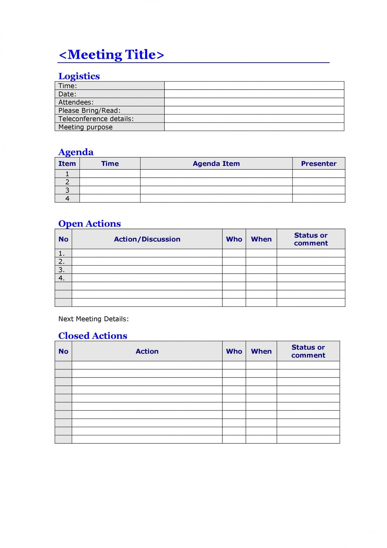 007 Shocking Staff Meeting Agenda Template Inspiration  Example Pdf Sample Format1920