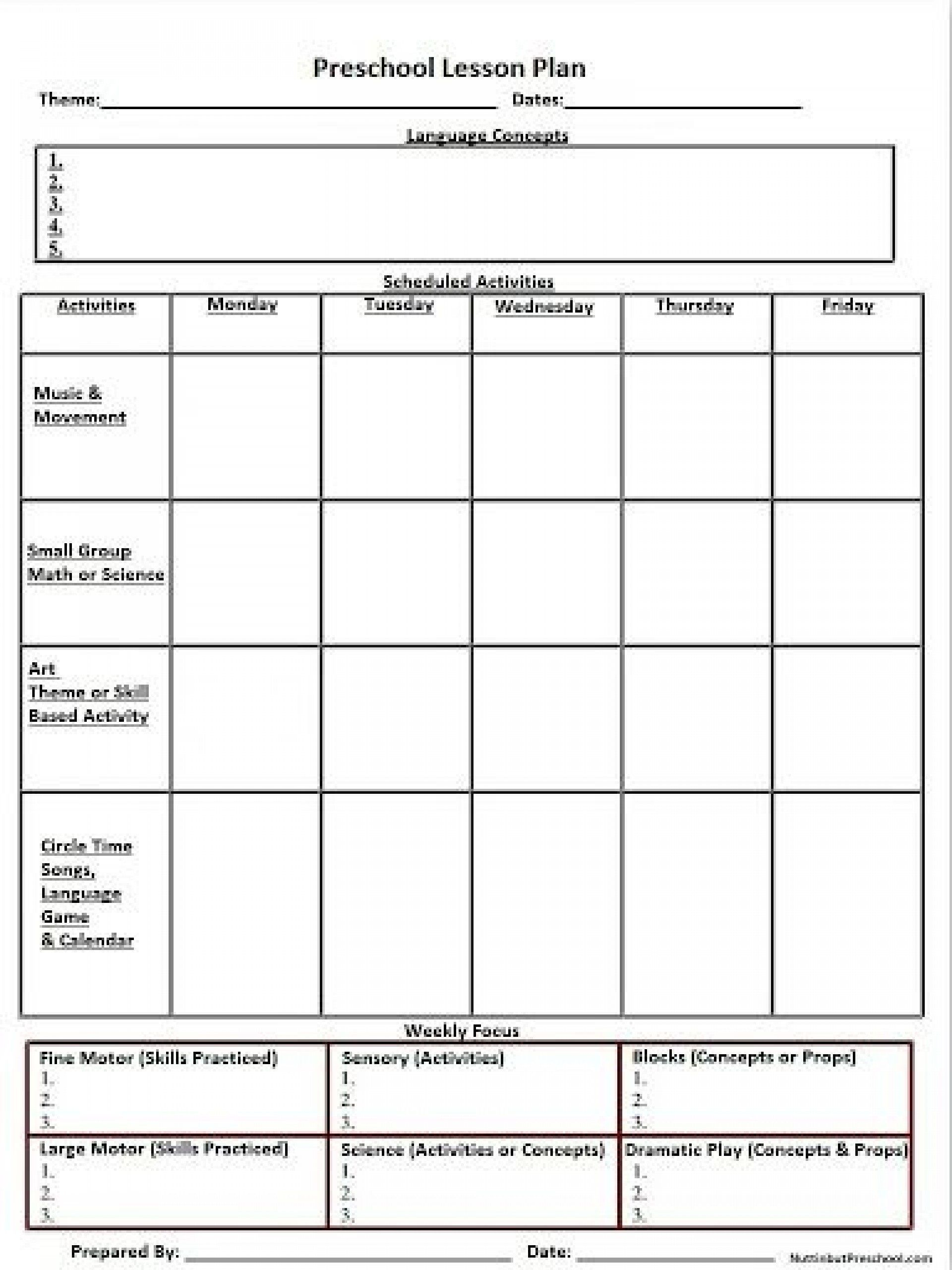 007 Shocking Weekly Lesson Plan Template High School Def  For Science Teacher Math Example English PdfFull