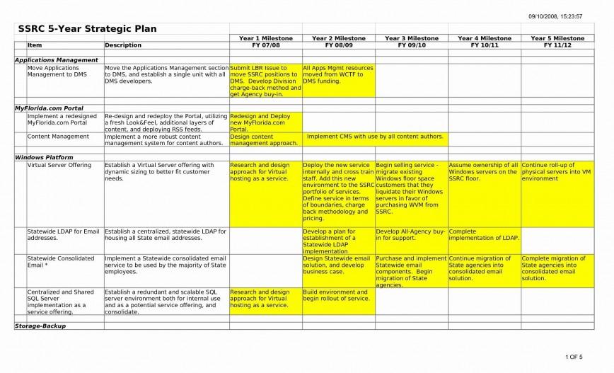 007 Simple 5 Year Plan Template High Def  Financial Excel Strategic Busines Pdf Career