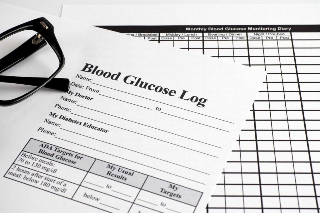 007 Simple Blood Sugar Log Book Template Idea  GlucoseLarge