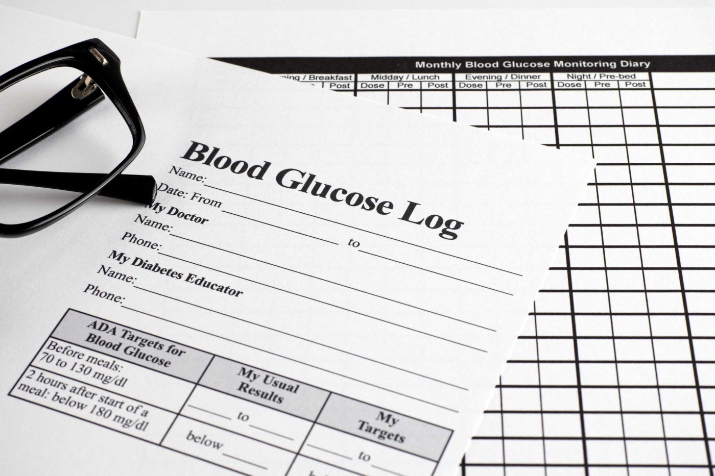 007 Simple Blood Sugar Log Book Template Idea  Glucose1400