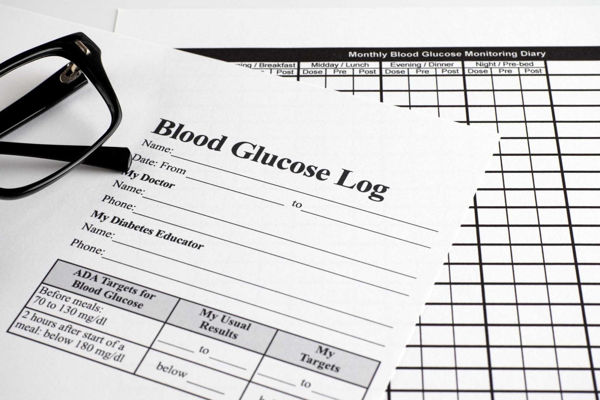 007 Simple Blood Sugar Log Book Template Idea  Glucose1920