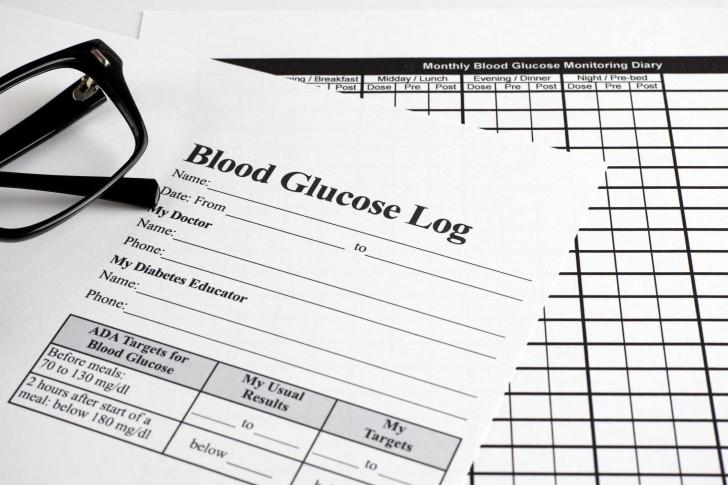 007 Simple Blood Sugar Log Book Template Idea  Glucose728