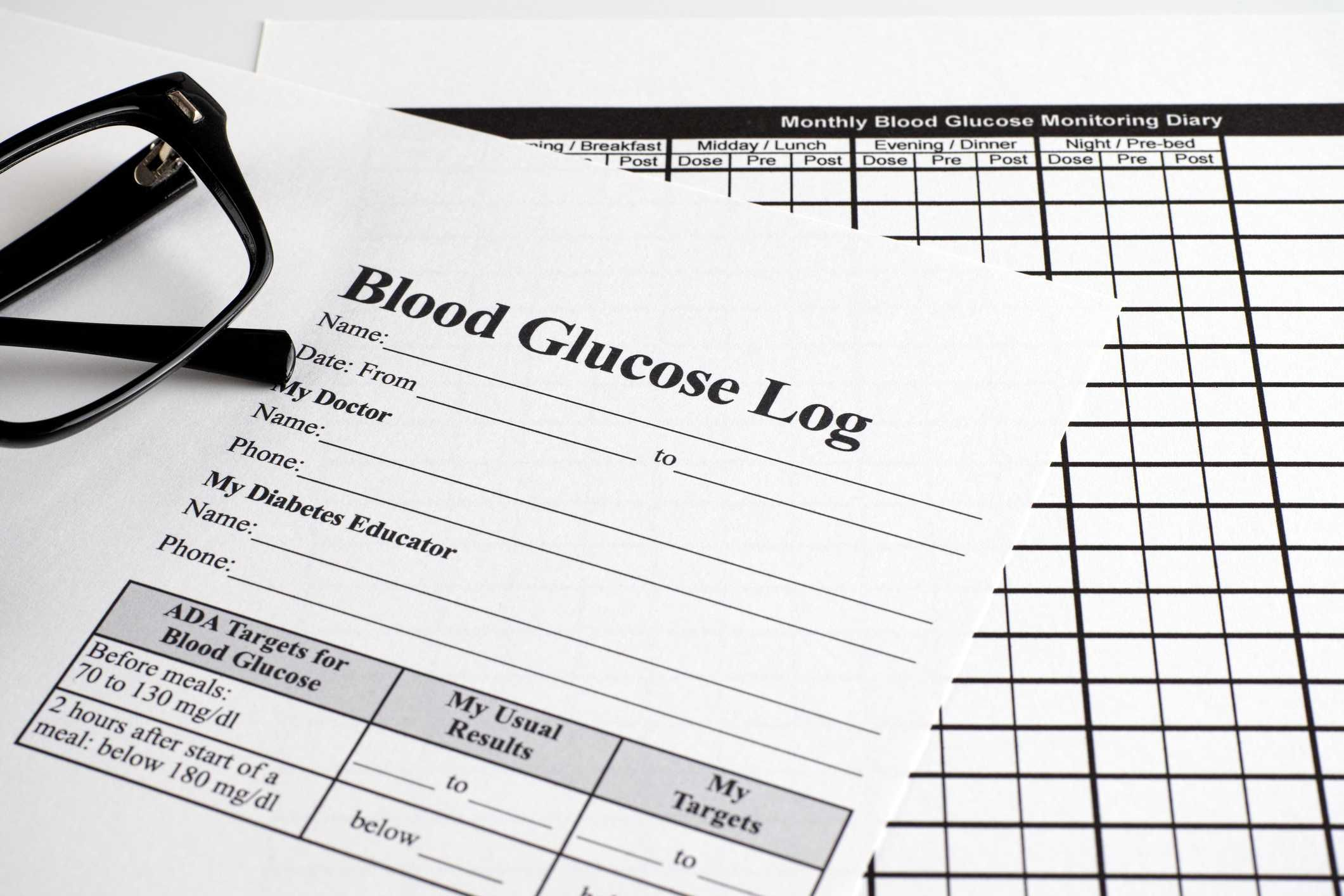 007 Simple Blood Sugar Log Book Template Idea  GlucoseFull