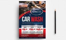 007 Simple Car Wash Flyer Template Design  Free Fundraiser Download