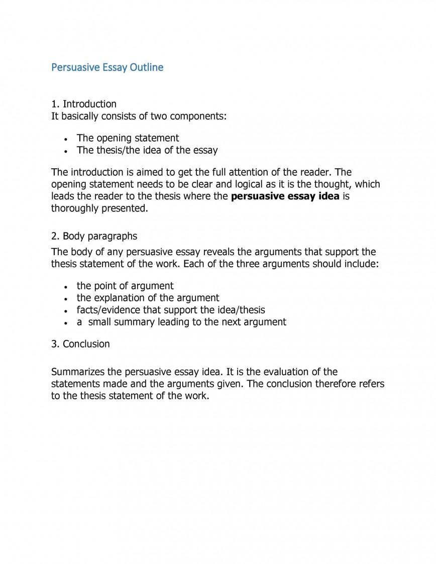 007 Simple College Persuasive Essay Outline Template Image