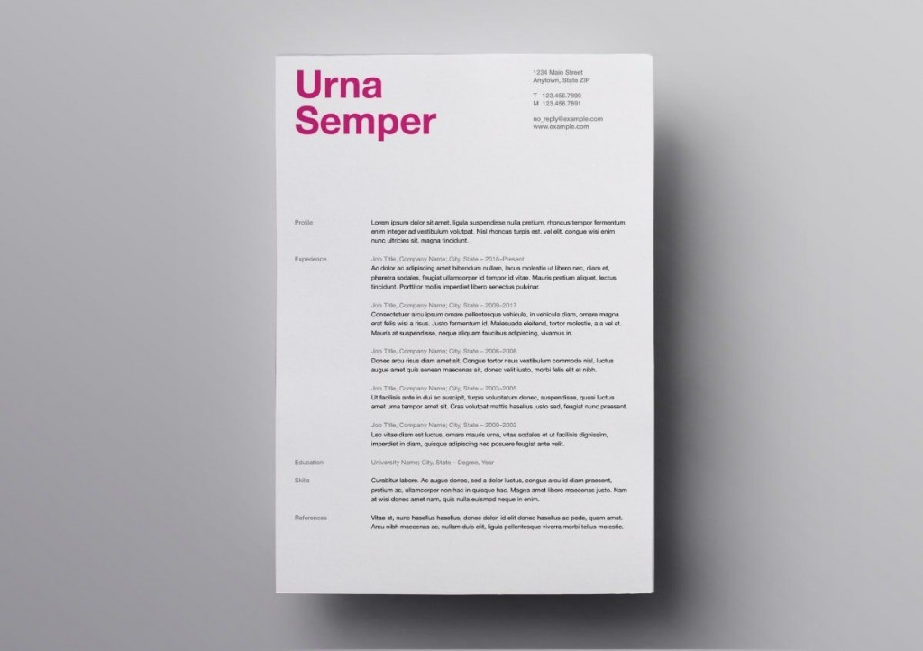 007 Simple Download Free Resume Template For Mac Page Example  PagesLarge