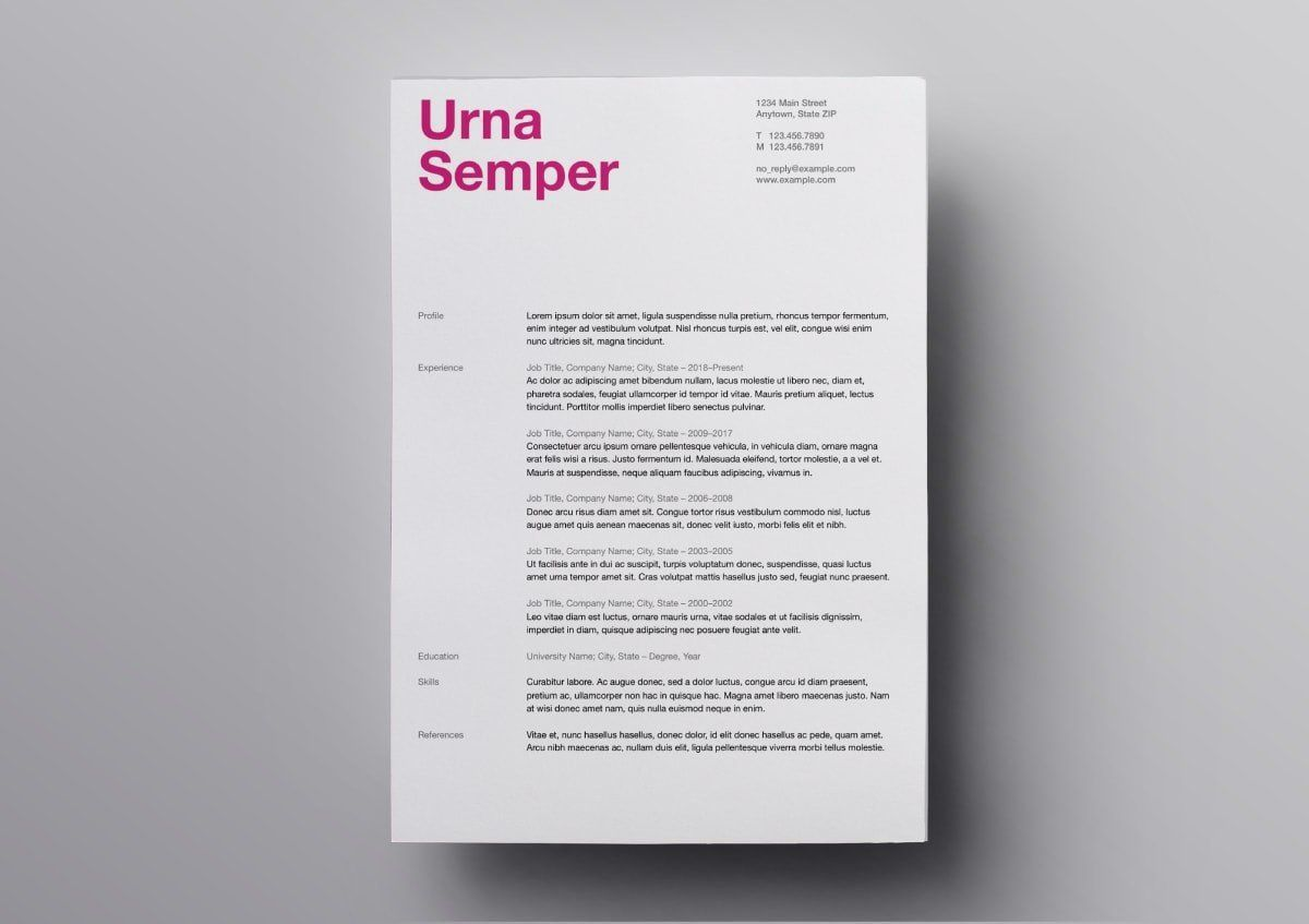007 Simple Download Free Resume Template For Mac Page Example  PagesFull