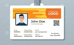 007 Simple Employee Id Card Template High Definition  Free Download Psd Word