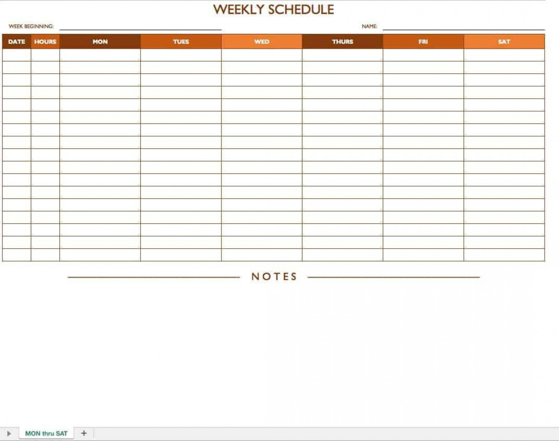 007 Simple Employee Schedule Template Free Design  Downloadable Weekly Work Training Excel Shift1920