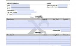 007 Simple Excel Spreadsheet Work Order Template Design
