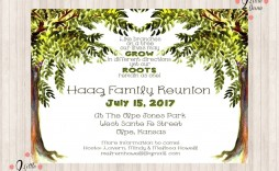 007 Simple Family Reunion Invitation Template Free Highest Quality  For Word Online