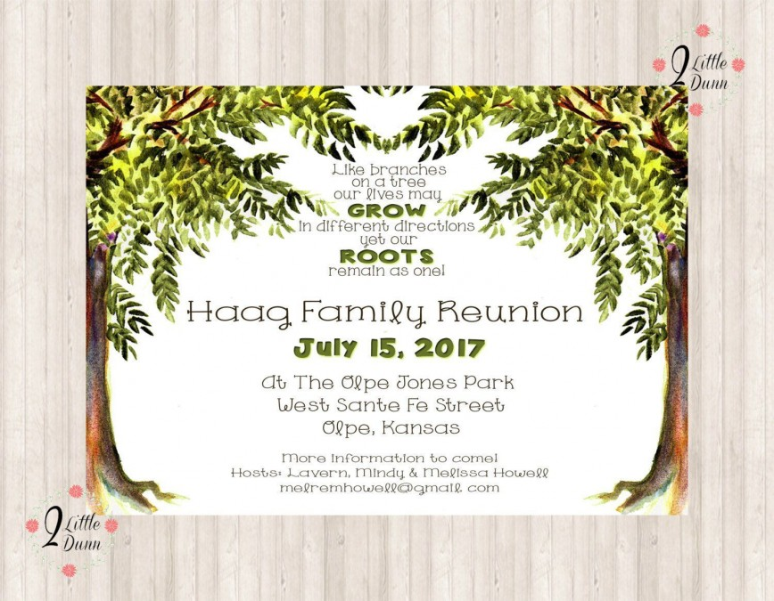 007 Simple Family Reunion Invitation Template Free Highest Quality  Online Flyer Word
