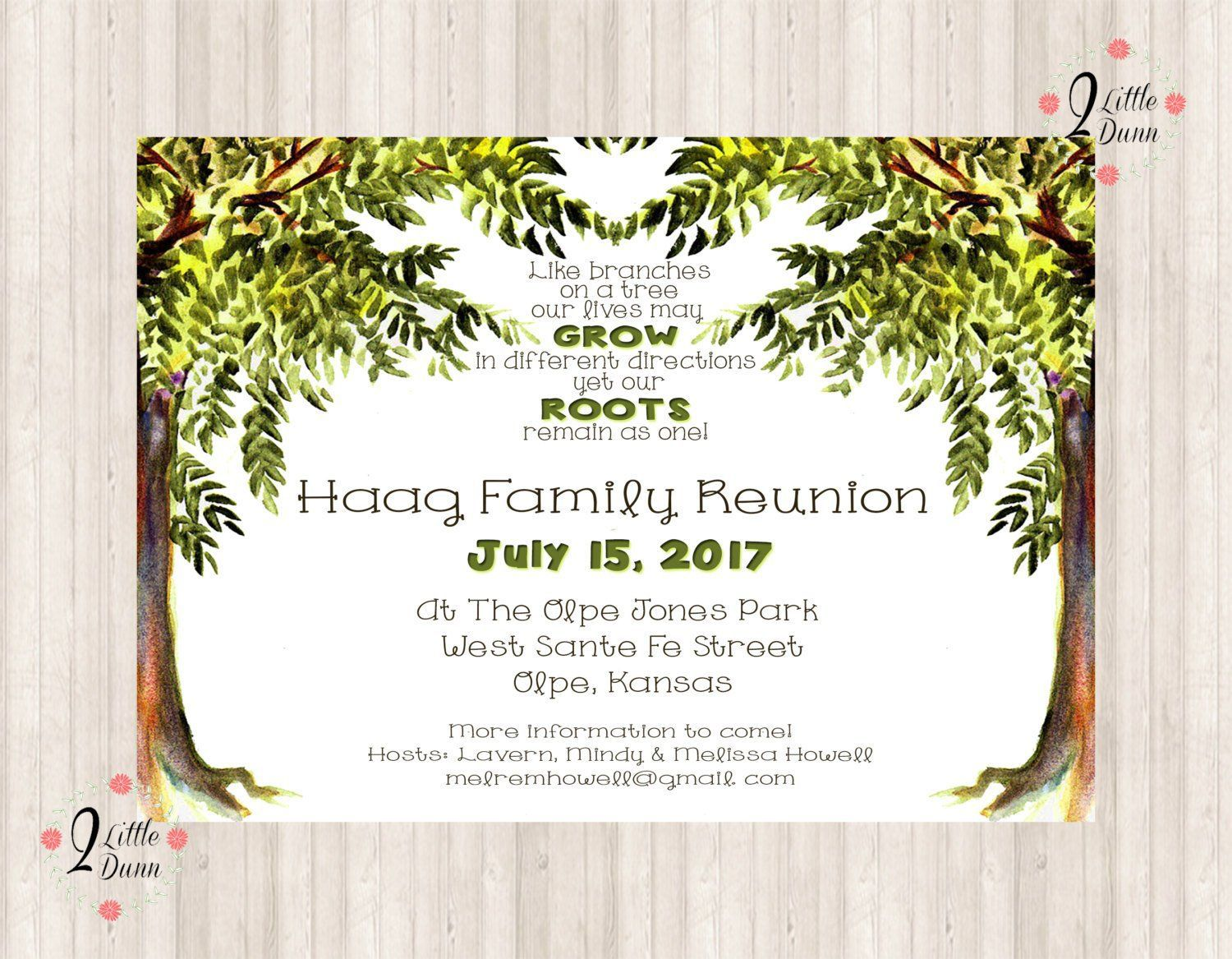 007 Simple Family Reunion Invitation Template Free Highest Quality  For Word OnlineFull