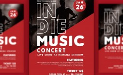 007 Simple Free Concert Poster Template Image  Word Classical Music