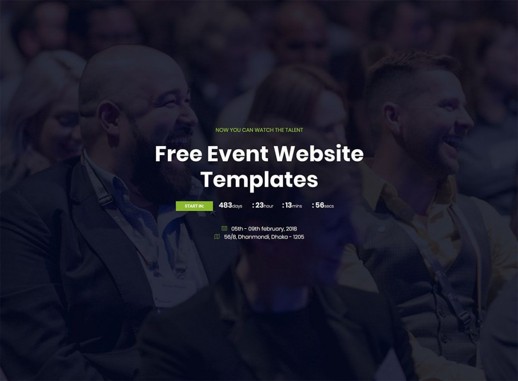 007 Simple Free Event Planner Website Template High Definition  Download BootstrapLarge