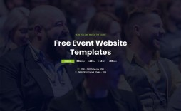 007 Simple Free Event Planner Website Template High Definition  Templates Download Bootstrap