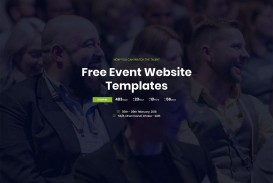 007 Simple Free Event Planner Website Template High Definition  Download Bootstrap