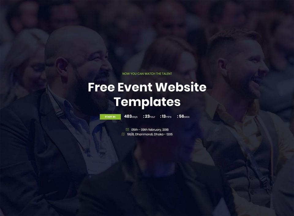 007 Simple Free Event Planner Website Template High Definition  Download Bootstrap960