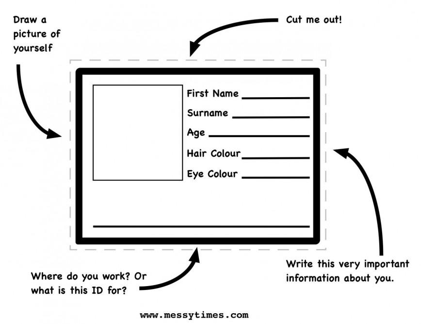 007 Simple Free Printable Id Card Template Photo  Templates Editable