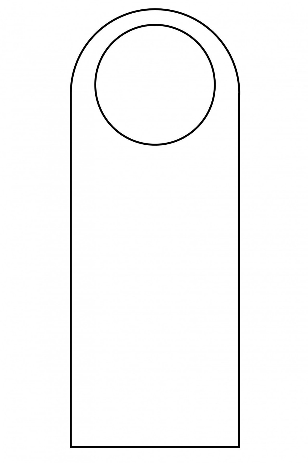 007 Simple Free Template For Door Hanger High Resolution  Hangers Printable KnobLarge