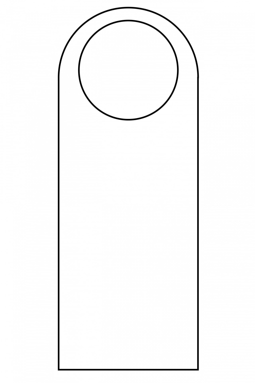 007 Simple Free Template For Door Hanger High Resolution  Hangers Printable Knob1920