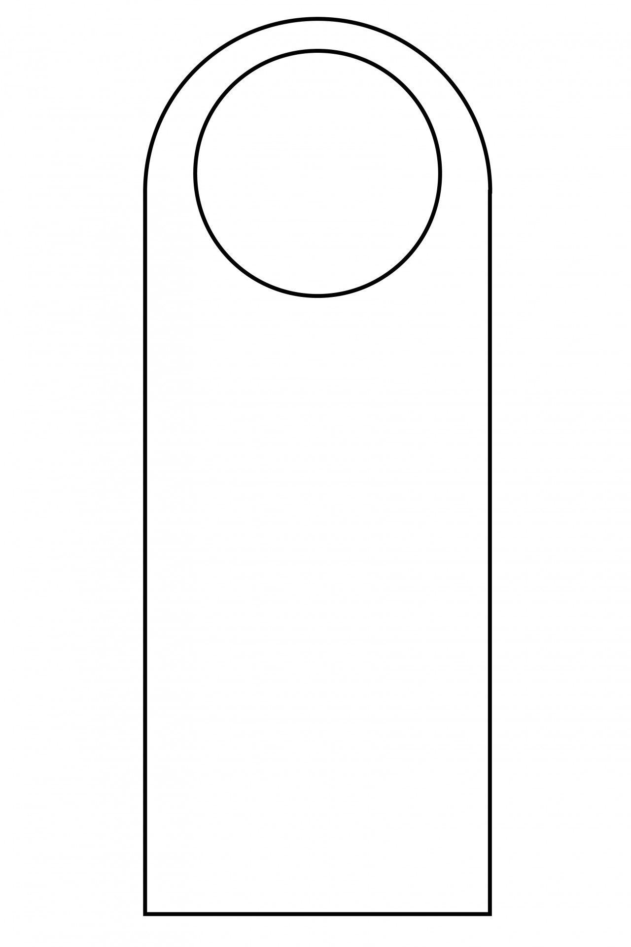 007 Simple Free Template For Door Hanger High Resolution  Hangers Printable KnobFull