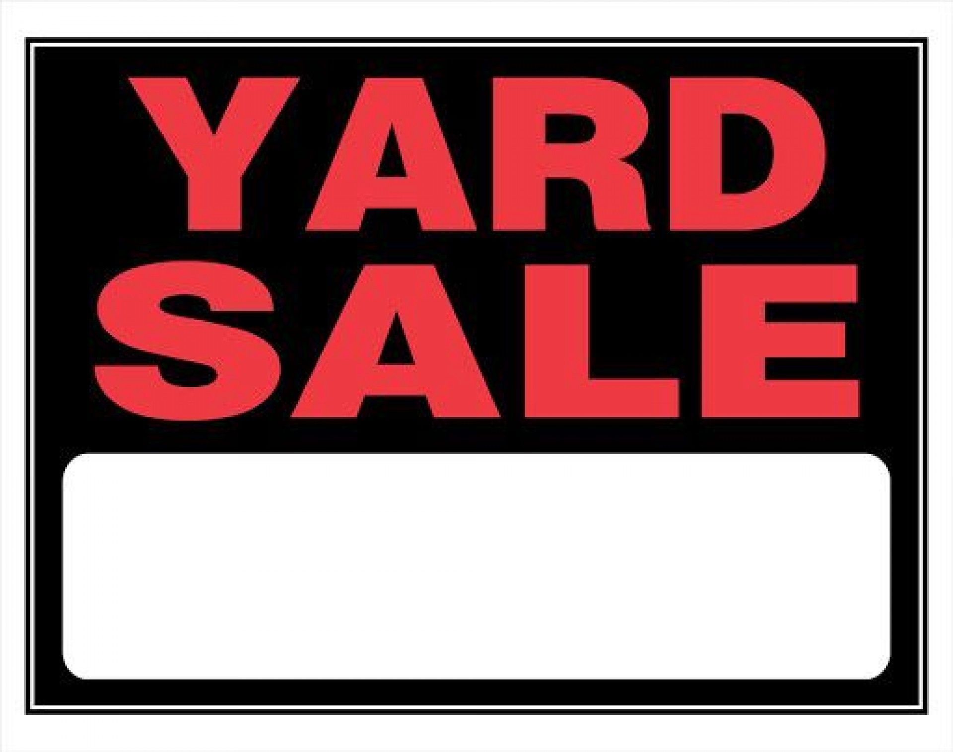 007 Simple Garage Sale Sign Template Picture  Flyer Microsoft Word Community Yard Free Rummage1920