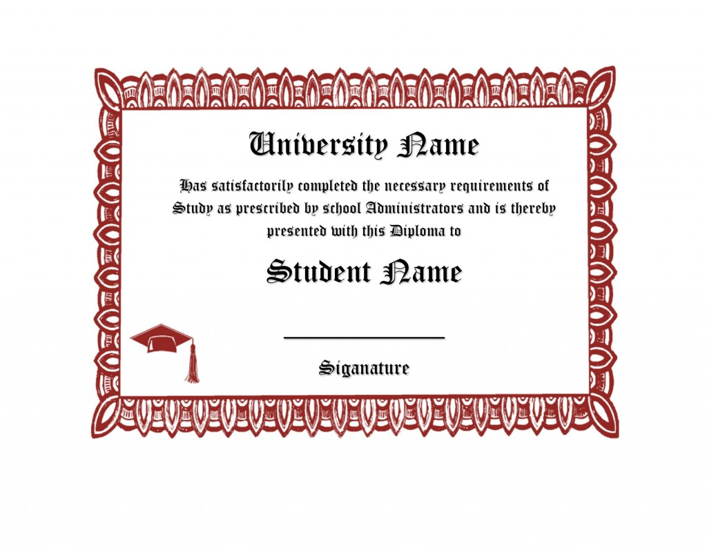 007 Simple High School Diploma Template Highest Clarity  With Seal Homeschool Free Printable BlankLarge