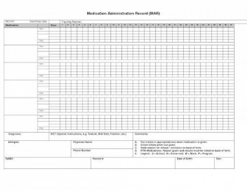 007 Simple Medication Administration Record Form Download High Def 360