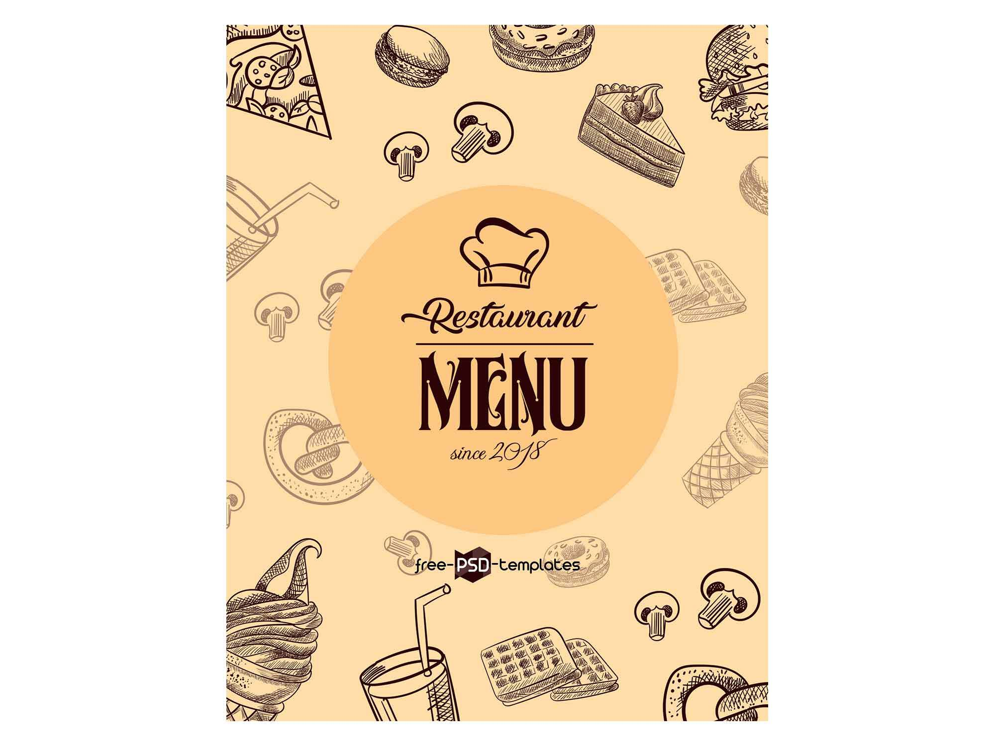 007 Simple Menu Template Free Download For Restaurant Highest Clarity  Word PsdFull