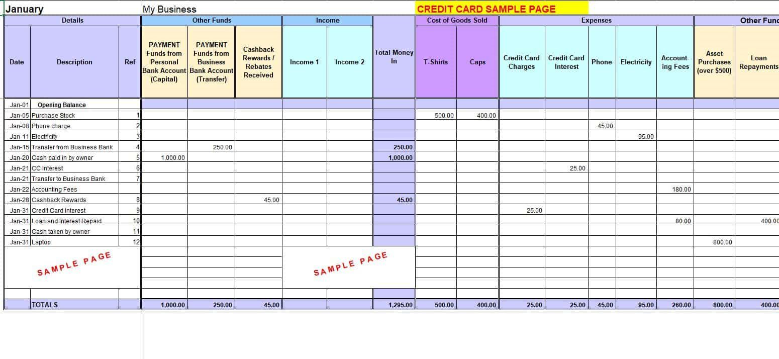 007 Simple Monthly Busines Expense Template Photo  Sheet Excel PdfFull