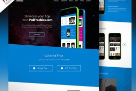 007 Simple One Page Website Template Psd Free Download Sample