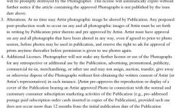 007 Simple Portrait Photography Contract Template Inspiration  Pdf Australia