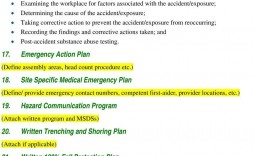 007 Simple Site Specific Safety Plan Template Osha Example