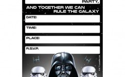 007 Simple Star War Birthday Invitation Template High Definition  Free Party Printable