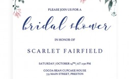 007 Simple Wedding Shower Invitation Template Photo  Templates Bridal Pinterest Microsoft Word Free For