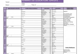 007 Simple Weekly Lesson Plan Template Image  Preschool Google Doc Editable