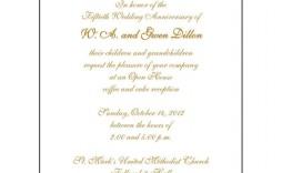 007 Singular 50th Anniversary Invitation Template Idea  Templates Wedding Free Download Golden