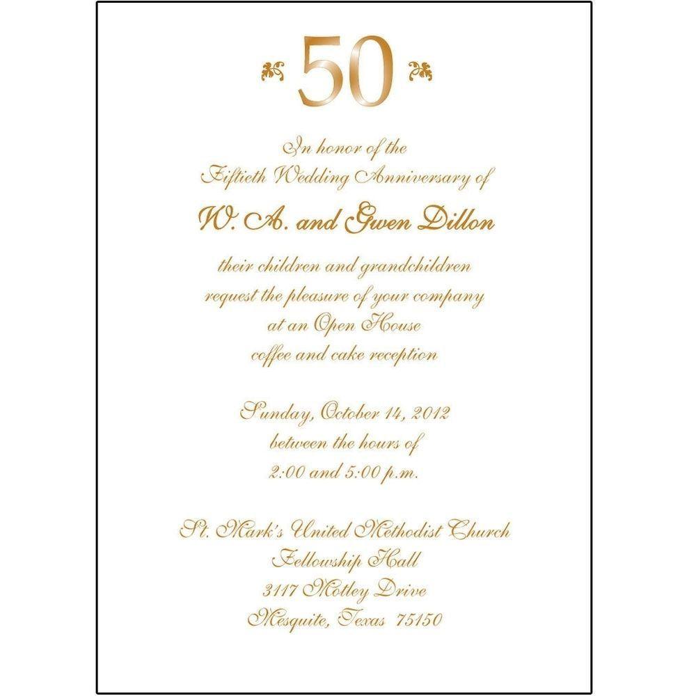 007 Singular 50th Anniversary Invitation Template Idea  Templates Wedding Free Download GoldenFull
