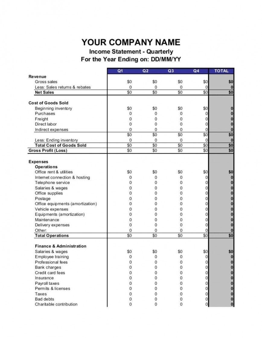 007 Singular Blank Income Statement Template Inspiration  Tax Form Example