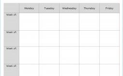 007 Singular Blank Weekly Lesson Plan Template Example  Printable Pdf Free Editable