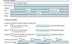 007 Singular Credit Card Form Template Excel Inspiration  Authorization Payment