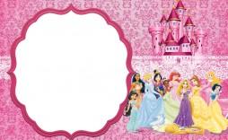 007 Singular Disney Princes Invitation Template Idea  Downloadable Party Free Printable Birthday