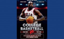 007 Singular Free Basketball Flyer Template Sample  Tryout Event Word