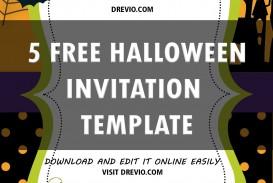 007 Singular Free Halloween Invitation Template Printable Concept  Birthday Party
