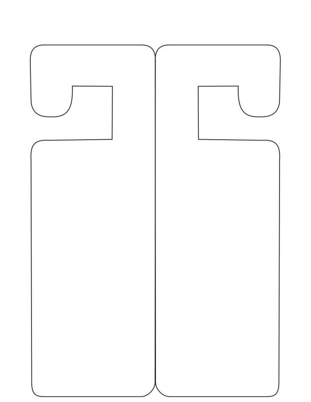 007 Singular Free Printable Door Hanger Template High Def  Templates Wedding EditableLarge
