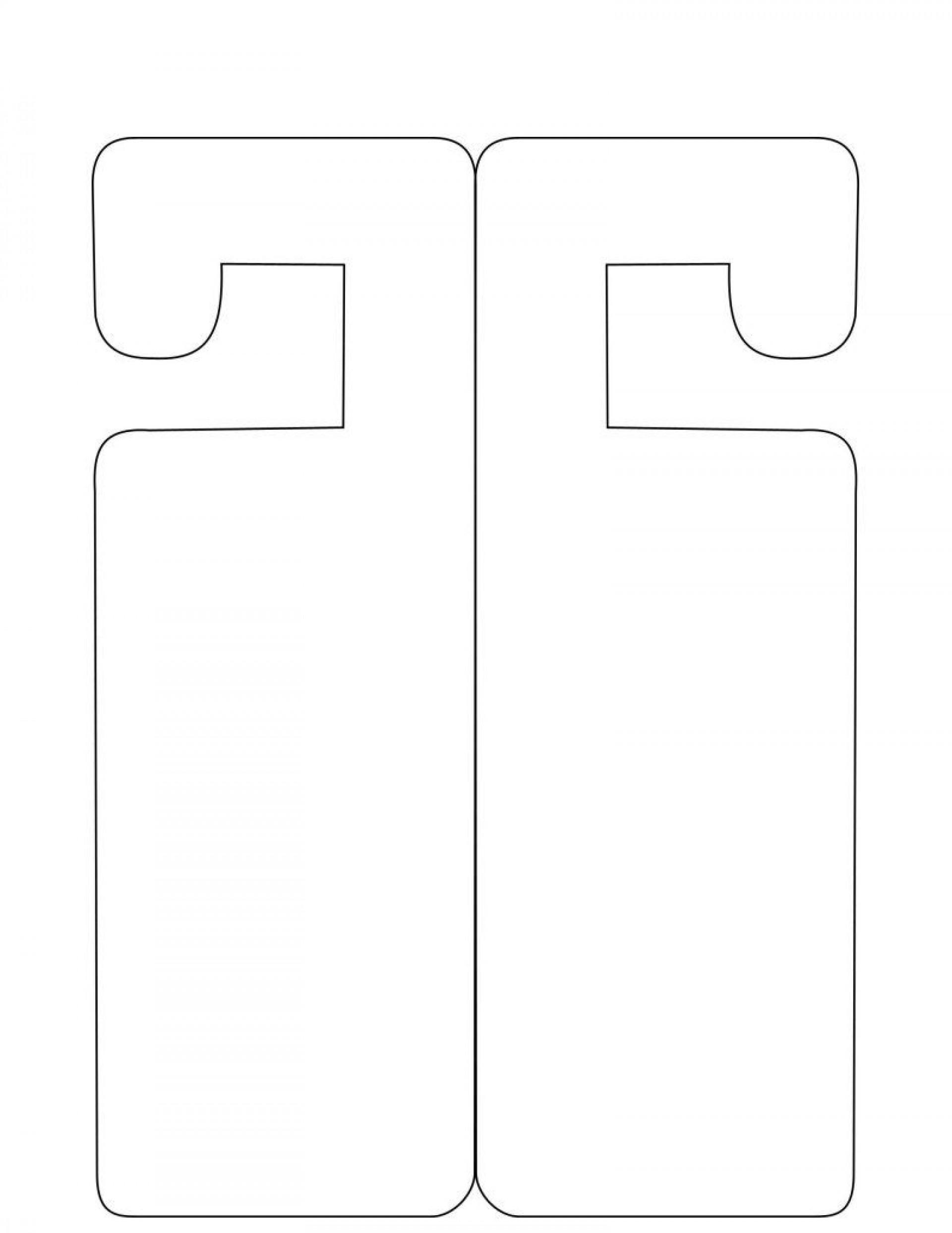 007 Singular Free Printable Door Hanger Template High Def  Templates Wedding Editable1920